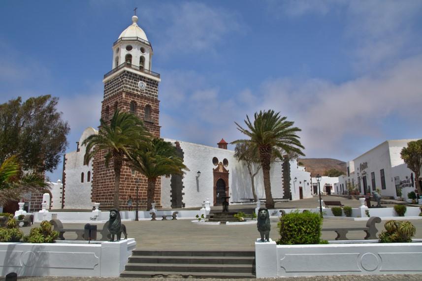 Plaza mayor de Teguise en Lanzarote