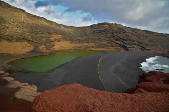 Lago Verde en Lanzarote. Revista Viajeros