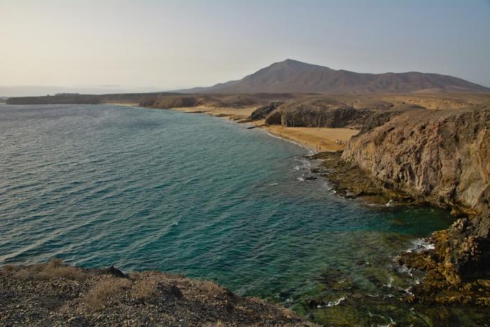 Playa del papagayo de Lanzarote